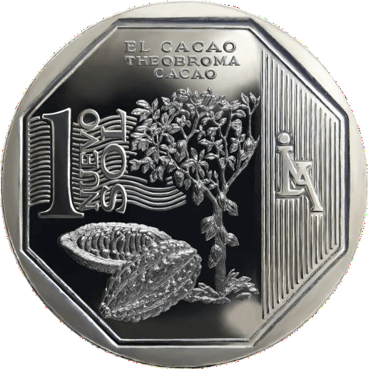 moneda de el cacao, recursos naturales del perú