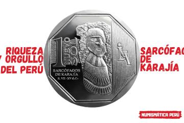 moneda alusiva a los sarcófagos de karajía, riqueza y orgullo del perú