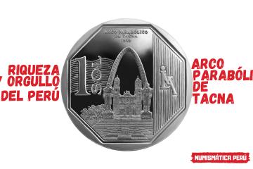 moneda alusiva al arco parabólico de tacna