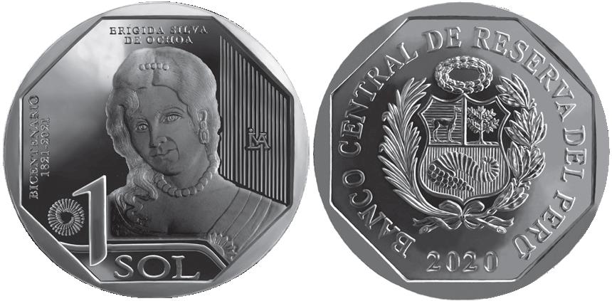 moneda de brigida silva de ochoa