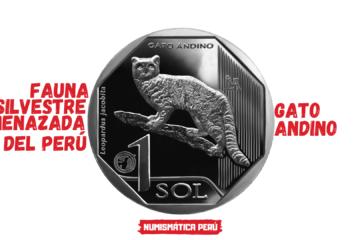 moneda alusiva al gato andino