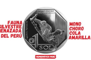 moneda alusiva al mono choro cola amarilla