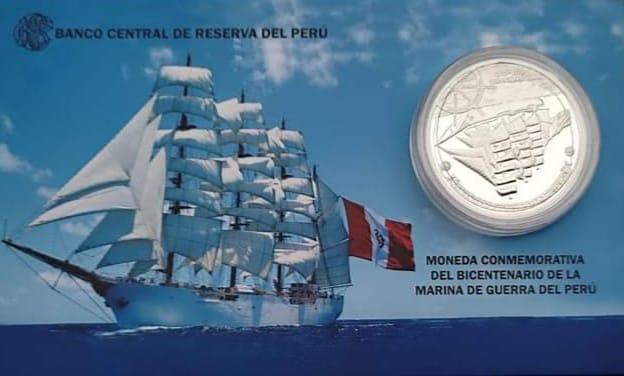 blister moneda bicentenario marina de guerra del peru