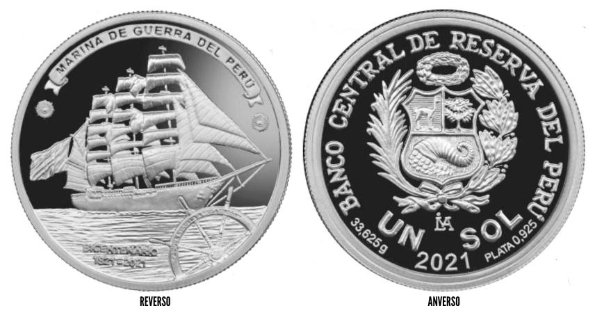 moneda bicentenario marina de guerra del peru