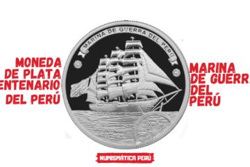 moneda de plata conmemorativa del bicentenario de la marina de guerra del peru