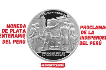 moneda bicentenario proclamacion independencia del peru